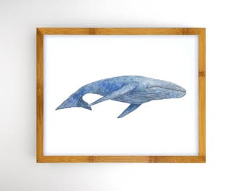 Whale Instant Download Printable Art - Ocean Nursery Artwork