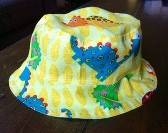 Reversible Kombi/ Dinosaurs Toddler Baby Sun Hat (4 child/baby sizes available)