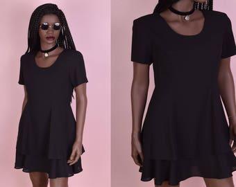 90s Little Black Dress/ US 4/ 1990s
