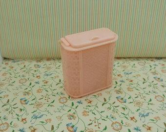 Renwal  Pink Bathroom Hamper   Doll House Toy  Plastic Laundry