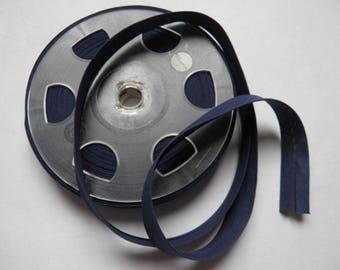 3m Biais coton replié – bleu marine (col 647)