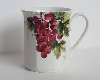 Royal Doulton Everyday China Coffee Tea Mug Cup Vintage Grape