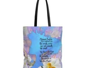 Blue Melanin Barbie Tote Bag