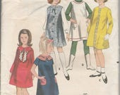 RESERVED FOR AMANDA 1960's Sewing Pattern Butterick 3694 girls easy dress or jumper size 10