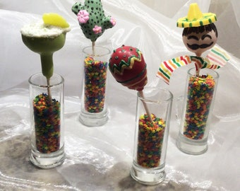 Mexican Themed Party Cake Pops, CINCO de MAYO Cake Pops