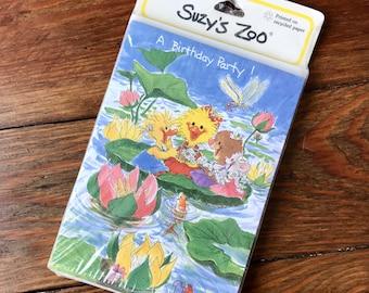Adorable 90s SUZY'S ZOO Birthday Party Invitations - 10 invites and envelopes
