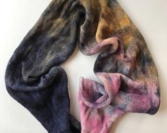 blankity blank {one of a special} - Hand Dyed Single Sparkle Sock Yarn Blank - 75/20/5  - Superwash Merino Nylon Stellina