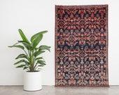ZARI 4x6.5 Hand Knotted Persian Wool Rug