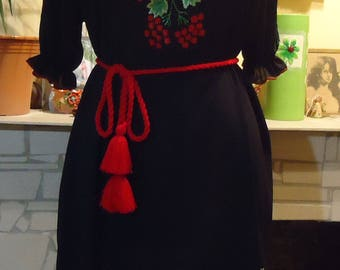 Hand Embroidered Women's dress (blouse),Ukrainian Style,size XXL. Handmade