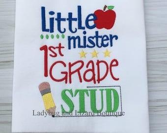 Little Mister 1st Grade Stud Short Sleeve Top Sizes  2T, 3T, 4T, 5T, 6