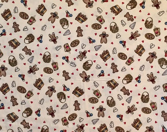 Vintage  Dianna Marcum Gingerbread Fabric - Marcus Brothers - Out of Print