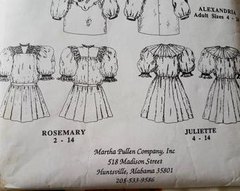 Vintage Pattern For French Antique Dress Styles UNCUT - Retro 90s Unused Antique + Edwardian Styled Dresses By Martha Pullen, Sewing Pattern