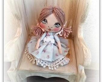 Princess doll ,bambola di stoffa principessa,bambolina artistica da collezione,textile doll
