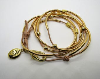 Leather Wrap Bracelet/Necklace