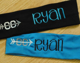 Team Sports & Athletic Headbands, team numbers, sports symbols, team name, monogram, soccer, volleyball, cheerleading, dance team, ice skate