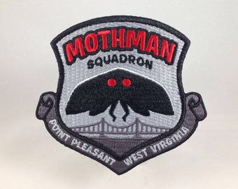 Mothman Squadron Point Pleasant embroidered patch