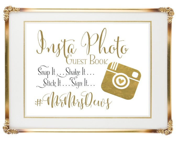 Personalized Wedding Sign | Instant Photo Wedding Guest Book | 8x10 | Wedding Guest Book Canvas | DIY PRINTABLE | Quick Turnaround