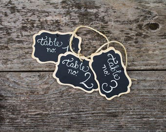 2 Personalized Chalk Tags