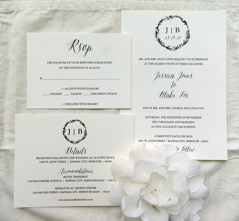Fancy Wedding Invite Suite Sketch - Invitations Design Inspiration ...