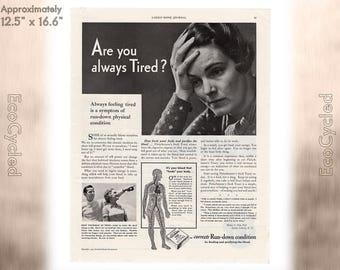 Ladies Home Journal 1935 Antique Magazine Ads Advertisements Antique Vintage Paper Ephemera ready to frame art print vintage yeast ad z11