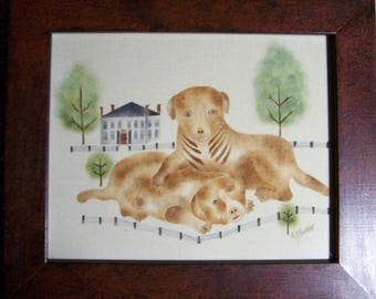 2 Dogs Theorem Painting