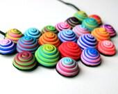 Custom order, Polymer clay, necklace, bib necklace, domed swirls, wearable art, OOAK, DIY necklace