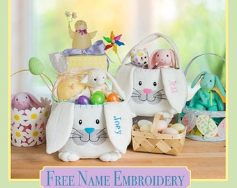 Easter basket ideas etsy embroidered easter baskets personalized easter baskets easter baskets kids easter baskets ideas negle Gallery