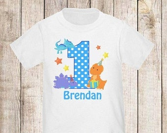 ON SALE 1st Birthday Dinosaur Personalized First Birthday Shirt - ANY Age