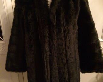 Faux Fur Three Quarter Length Coat