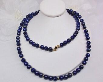 Blue Lapis Necklace Gold Lapis Lazuli Necklace 14k Gold Filled Necklace Blue Lapis Lazuli Necklace BuyAny3+1Free