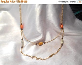 50% Off Sale Vintage Sarah Coventry Signed Double Beaded Gold Tone Necklace Bittersweet From 1975