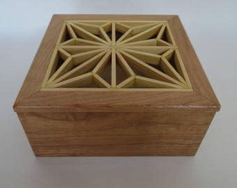 Small Wooden Box From Cherry and pine