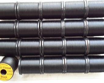 Uni-Thread  size 6/0,  200 yd spool....  ....20 Spool Combo..... Black Color..........