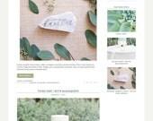 "Wordpress Theme Responsive Blog Design ""Hey Denise"" - Rustic and wreath design"