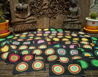 Hmong Stars New  Hilltribe Embroidered Textile Decorations 100