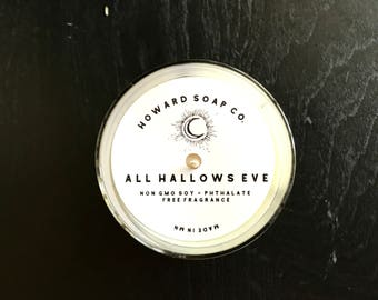 All Hallows' Eve 7oz Soy Candle>> SALE 20%OFF through Oct 13!/ halloween/minnesota made