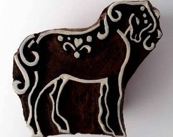 Horse Stamp - Wood Block Printing Stamp - Hand Carved - India - Small