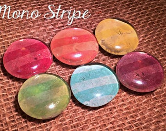Striped Glass Bubble Magnets (Many Colors)-Ready to Ship!