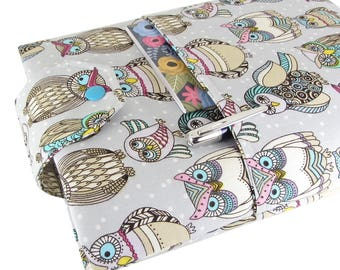 Owl Book Sleeve - Front Pocket, Two Sizes: Paperback & Hardback - Makes A Great Book Cover For Yourself Or Book Lover Gift!