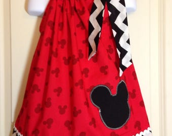Mickey Ears dress / Disney Mickey Mouse dress / Mickey Mouse dress / Mickey Mouse Pillowcase dress / Disney dress / Minnie Mouse Dress