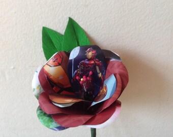 Ironman comic book boutonniere buttonhole.