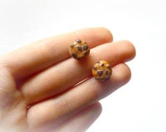 Polymer Clay Cookie Earrings, Cookie Stud Earrings, Kawaii Earrings, Sweets Earrings, Candy Earrings, Bakery Earrings, Snack Earrings