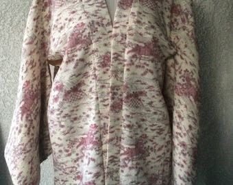 vintage  Japanese  kimono hand made se foto for more detail
