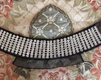 Black Rhinestone Collar