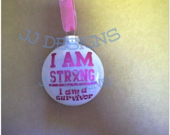 Breast cancer survivor ornament...personalization free!