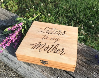 Letters to my Mother Box, letter box, mom, mother, Mother's Day, gift for mom