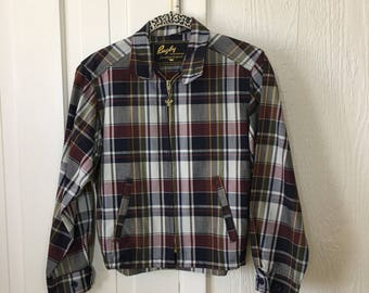 Vintage 50s Plaid Jacket Rugby Knitting Mills Sportswear XS SM Mint Condition