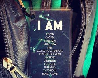 I Am Backpack Tag {Set of 10}