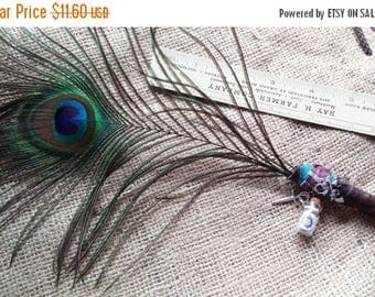 On Sale at Etsy Supernatural TV Show Inspired Peacock Feather Pen,Demon Banishing Tools,Wedding Sign In,Shower Gift, Centerpiece,Desk Acesso