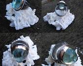SALE* Radiant Rutilated Aquamarine Ring (Size 7)